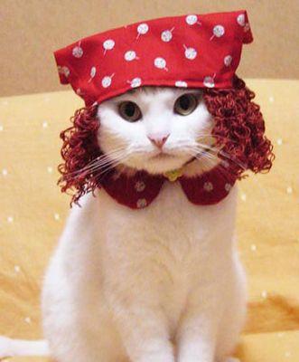 sympa le bandana ! et le bouclettes rouges …
