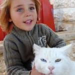 chat et garçon aux yeux vairons